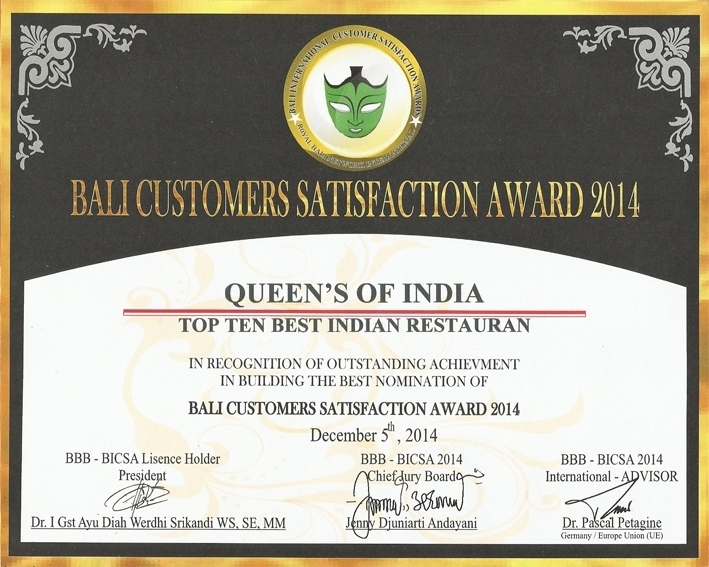 Top Ten Best Indian Restaurant in Bali Queens of India - Bali Best Brand