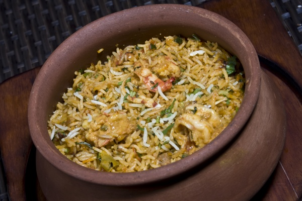 Prawn Matka Biryani (medium)